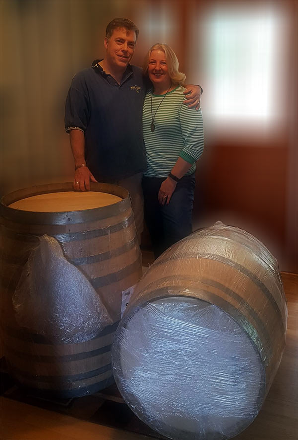 our first barrels of wine
